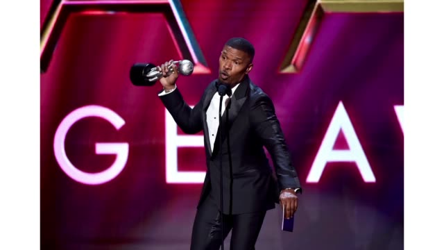 jamie foxx accepts the outstanding supporting actor in a motion picture for just mercy onstage during the 51st naacp image awards presented by bet at... - best supporting actor stock videos & royalty-free footage
