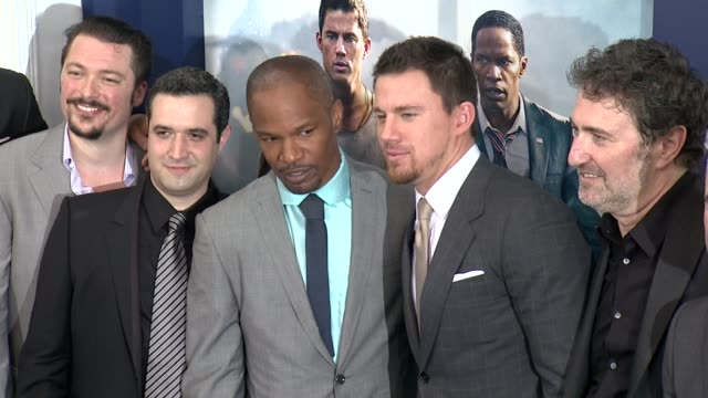 Jamie Foxx and Channing Tatum at White House Down Premiere on June 25 2013 in Ziegfeld Theater New York New York