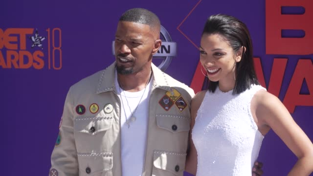 Jamie Foxx and Corinne Foxx at the 2018 BET Awards at Microsoft Theater on June 24 2018 in Los Angeles California
