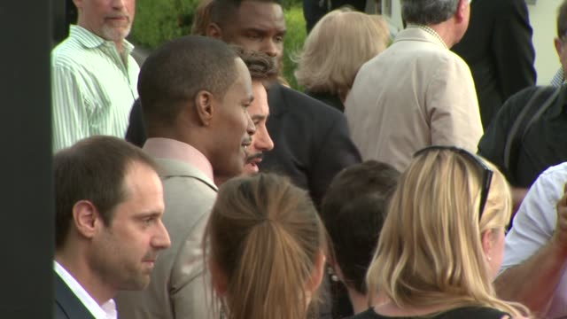 jamie foxx and robert downey jr. at the 'the soloist' premiere at los angeles ca. - soloist stock videos & royalty-free footage
