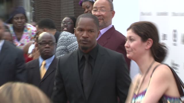 jamie foxx at the 2010 apollo theater benefit concert & awards ceremony - arrivals at new york ny. - benefit concert stock videos & royalty-free footage