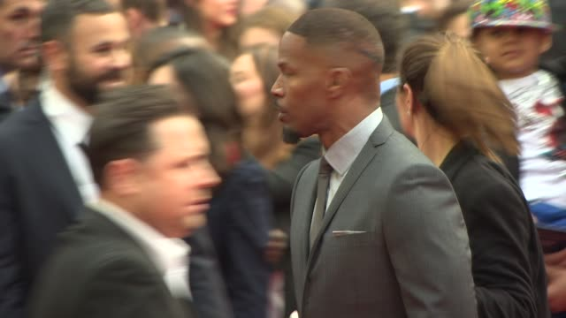 jamie foxx at the amazing spider-man 2 - uk film premiere on april 10, 2014 in london, england. - première stock videos & royalty-free footage