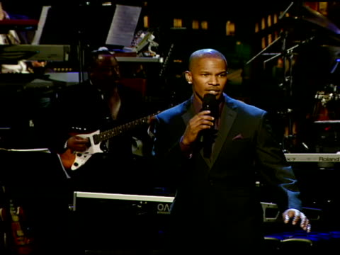 jamie foxx at the the thelonious monk institute of jazz and the recording academy® los angeles chapter partner to honor jazz icon herbie hancock at... - herbie hancock stock videos & royalty-free footage