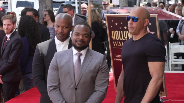 jamie foxx f gary gray vin diesel on may 28 2019 in hollywood california - vin diesel stock videos and b-roll footage