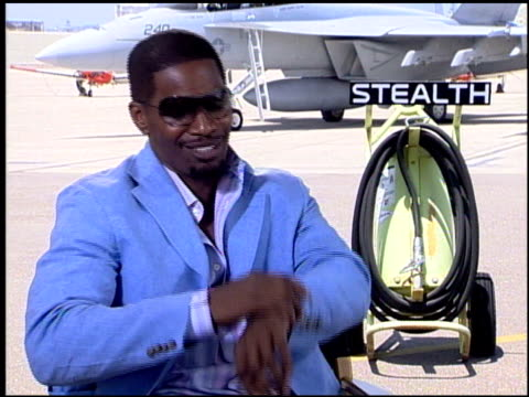 jamie foxx on working in the gimble at the 'stealth' san diego premiere at naval air station north island in coronado california on july 17 2005 - stealth stock videos and b-roll footage