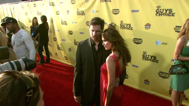 jamie kennedy and heidi mueller at the spike tv's guys' choice awards at radford studios in los angeles california on june 10 2007 - spike guys choice awards video stock e b–roll