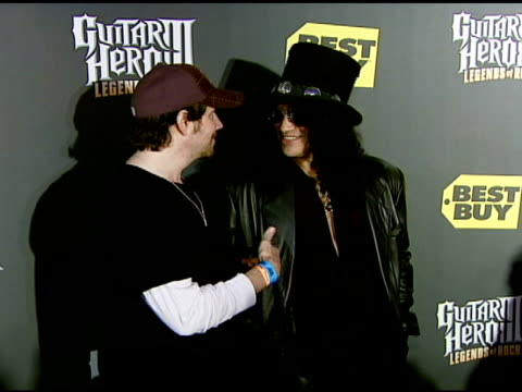 Jamie Kennedy and Slash at the Best Buy Presents Guitar Hero® III Legends of Rock Launch Party at Best Buy Rooftop in Los Angeles California on...