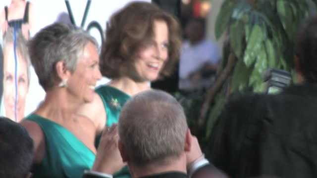 Jamie Lee Curtis and Sigourney Weaver at the You Again Premiere in Hollywood at the Celebrity Sightings in Los Angeles at Los Angeles CA