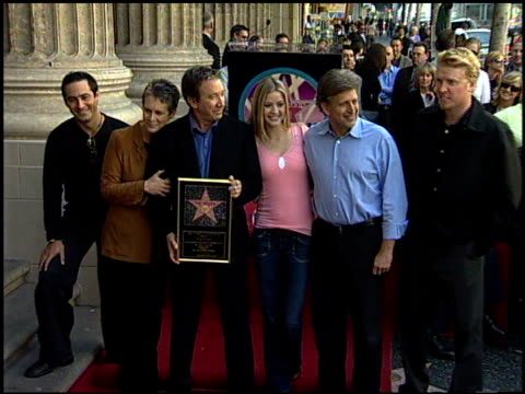 jamie lee curtis at the dedication of tim allen's hollywood walk of fame star at hollywood boulevard in hollywood california on november 19 2004 - tim allen stock videos and b-roll footage