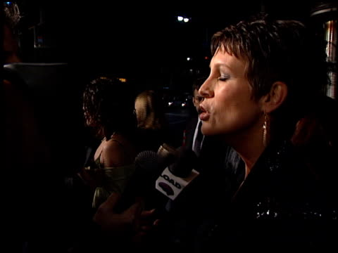 Jamie Lee Curtis at the 'Drowning Mona' Premiere at the Bruin Theatre in Westwood California on February 28 2000