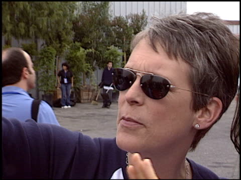 Jamie Lee Curtis at the HBO All Star Sports Jam at Barker Hanger in Santa Monica California on June 19 2004