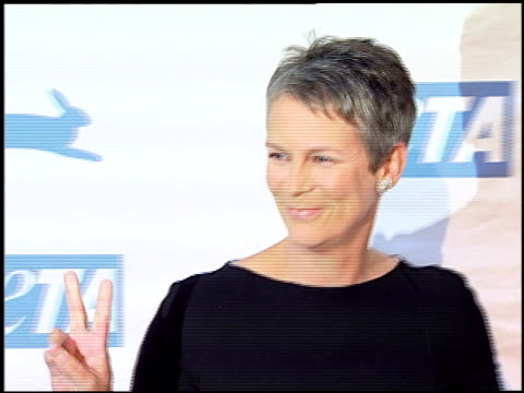 jamie lee curtis at the peta's 25th anniversary gala and humanitarian awards show at paramount studios in hollywood california on september 10 2005 - paramount studios stock videos and b-roll footage