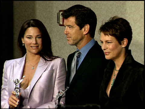 jamie lee curtis at the women in film's crystal awards at the century plaza hotel in century city, california on june 8, 2001. - century plaza stock videos & royalty-free footage
