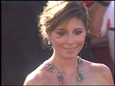 jamie lynn sigler at the 2004 emmy awards arrivals at the shrine auditorium in los angeles, california on september 19, 2004. - jamie lynn sigler stock videos & royalty-free footage