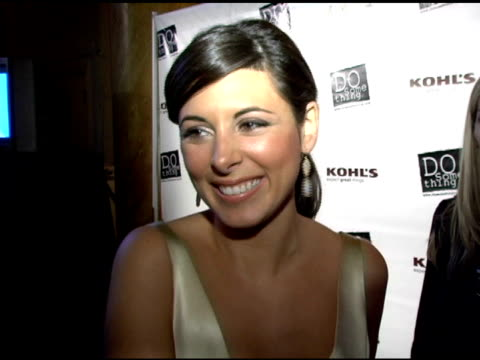 jamie lynn sigler on how she feels about the new and final season of sopranos at the 2006 brick awards from do something in celebration of young... - jamie lynn sigler stock videos & royalty-free footage
