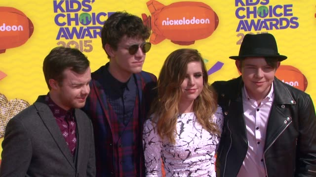 jamie sierota noah sierota sydney sierota and graham sierota of echosmith at nickelodeon's 28th annual kids' choice awards at the forum on march 28... - nickelodeon stock videos & royalty-free footage