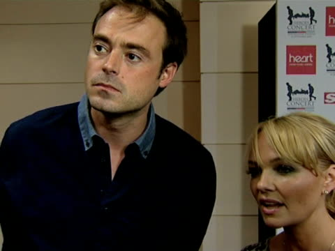 jamie theakston and emma bunton on help the heroes, raising money for charities at the help the heroes concert at london england. - jamie theakston stock videos & royalty-free footage