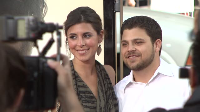 jamie-lynn sigler , jerry ferrera at the 'the hangover' premiere at hollywood ca. - jamie lynn sigler stock videos & royalty-free footage