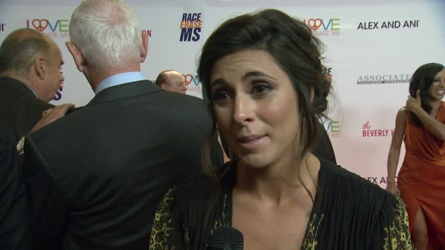 jamie-lynn sigler on being honored at tonight's event at the 24th annual race to erase gala in los angeles, ca 5/5/17 - jamie lynn sigler stock videos & royalty-free footage