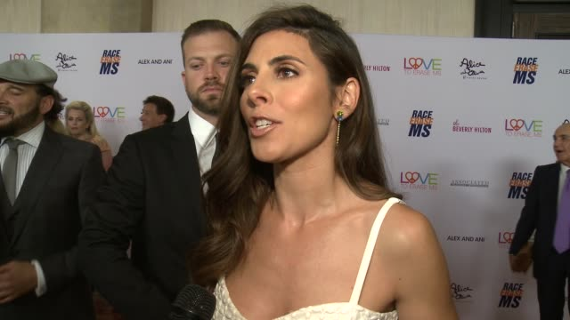 jamie-lynn sigler on the event and what race to erase does to change lives at the 26th annual race to erase in los angeles, ca 5/10/19 - jamie lynn sigler stock videos & royalty-free footage