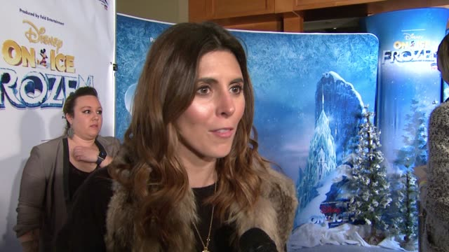 jamie-lynn sigler on the event, the appeal of frozen at disney on ice presents frozen los angeles celebrity premiere in los angeles, ca 12/10/15 - jamie lynn sigler stock videos & royalty-free footage