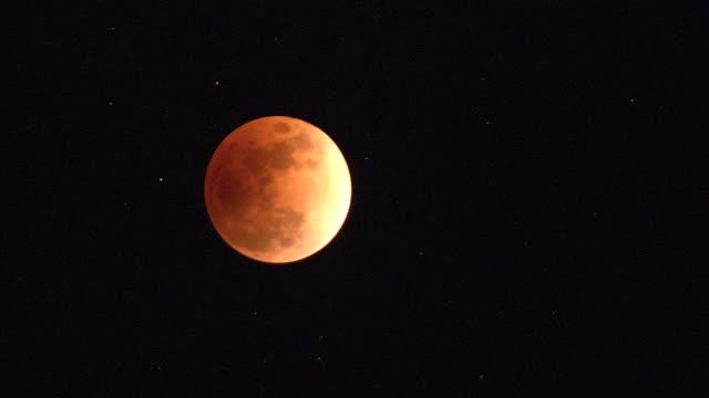 jan 2018 total lunar eclipse, hachijo is, japan - jp201806 stock videos and b-roll footage