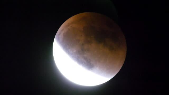 jan 2018 total lunar eclipse, hokkaido, japan - jp201806 stock videos and b-roll footage
