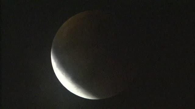 jan 2018 total lunar eclipse, yokohama, japan - jp201806 stock videos and b-roll footage