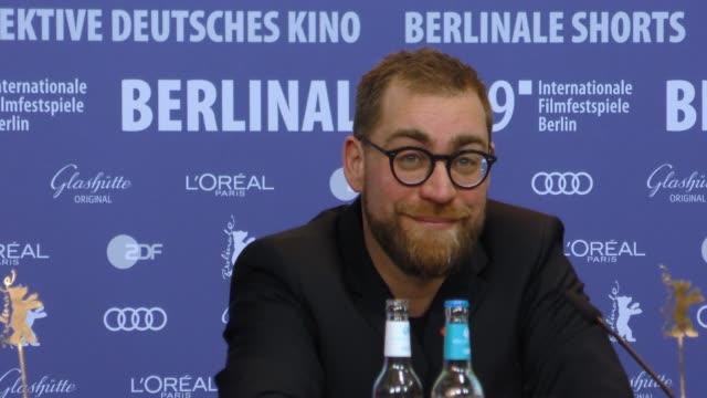 Jan Krüger attends 'All My Loving' press conference during the 69th Berlinale International Film Festival Berlin at Grand Hyatt Hotel on February 09...