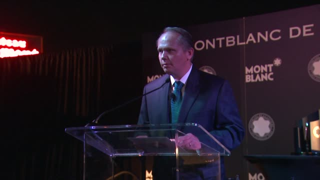 stockvideo's en b-roll-footage met jan patrick schmitz on quincy jones at montblanc honors quincy jones at the montblanc de la culture arts patronage awards ceremony on 10/02/12 in los... - arts culture and entertainment