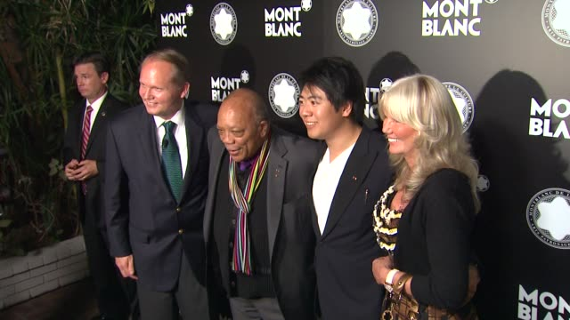 Jan Patrick Schmitz Quincy Jones and Yang Yang at the Montblanc de la Culture Arts Patronage Awards Ceremony on 10/02/12 in Los Angeles California