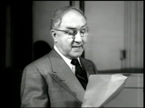 jan peerce amp thomas hayward ms pres james petrillo reading paper ' dedicate this first recording to you a fellow musician amp a great president... - christmas paper stock videos and b-roll footage