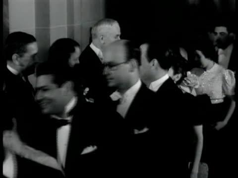 jane addams cordell hull in formal dress standing shaking hands of men women cu adams hull shaking hands w/ man - cordell hull stock videos and b-roll footage
