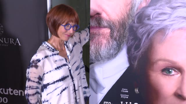 """jane anderson at the """"the wife"""" los angeles premiere at pacific design center on july 23, 2018 in west hollywood, california. - pacific design center stock videos & royalty-free footage"""