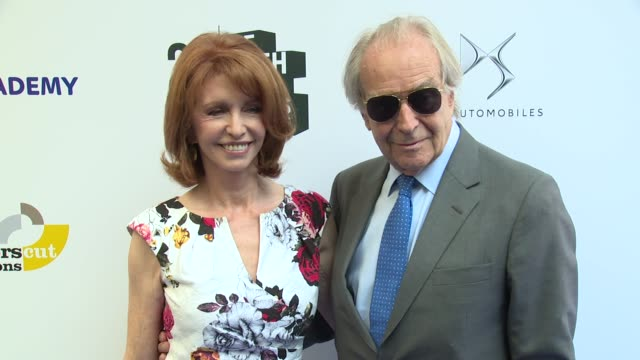 jane asher, gerald scarfe at the savoy hotel on june 05, 2016 in london, england. - gerald scarfe stock videos & royalty-free footage