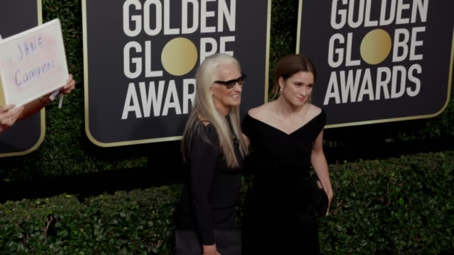 Jane Campion and Alice Englert at the 75th Annual Golden Globe Awards at The Beverly Hilton Hotel on January 07 2018 in Beverly Hills California