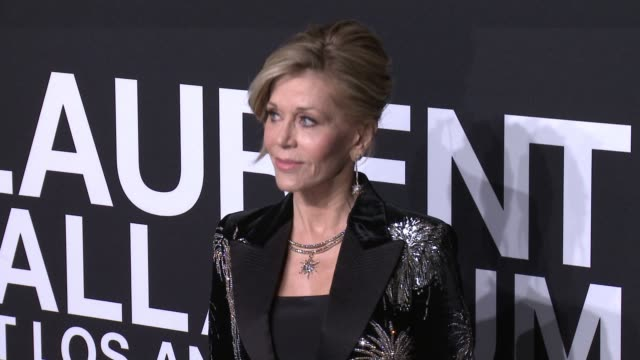 jane fonda at saint laurent event at hollywood palladium on february 10, 2016 in los angeles, california. - saint laurent stock videos & royalty-free footage