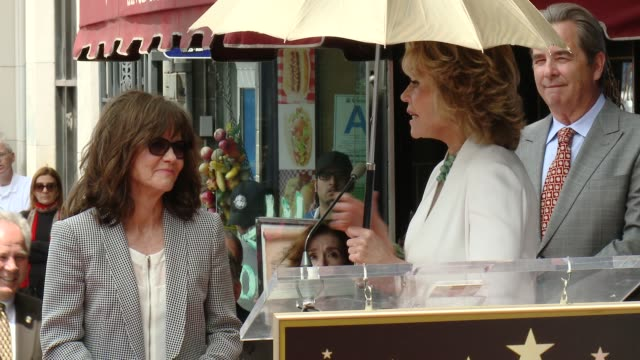 speech jane fonda at sally field honored with star on the hollywood walk of fame at hollywood walk of fame on may 05 2014 in hollywood california - sally field stock videos & royalty-free footage