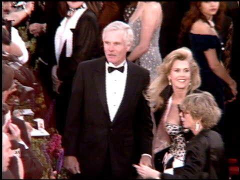 Jane Fonda at the 1995 Academy Awards Arrivals at the Shrine Auditorium in Los Angeles California on March 27 1995