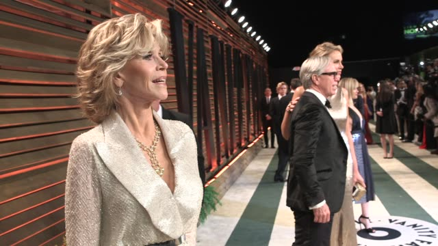 jane fonda at the 2014 vanity fair oscar party hosted by graydon carter - arrivals on march 02, 2014 in west hollywood, california. - oscar party stock videos & royalty-free footage