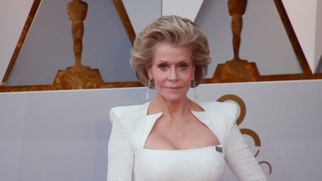 jane fonda at the 90th academy awards arrivals at dolby theatre on march 04 2018 in hollywood california - 90th annual academy awards stock videos & royalty-free footage