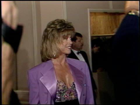 jane fonda at the afi awards honoring gregory peck at the beverly hilton in beverly hills california on march 9 1989 - gregory peck stock videos and b-roll footage