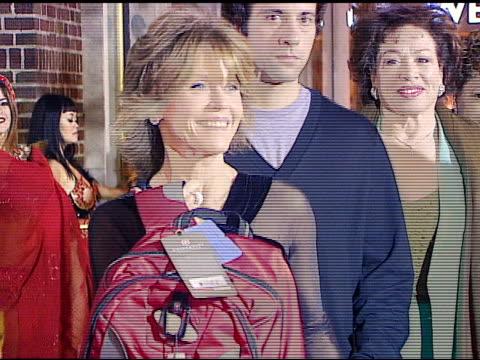 vídeos de stock, filmes e b-roll de jane fonda at the sara blakely foundation 'give a damn' party at ritz carlton in atlanta georgia on october 15 2006 - sara blakely