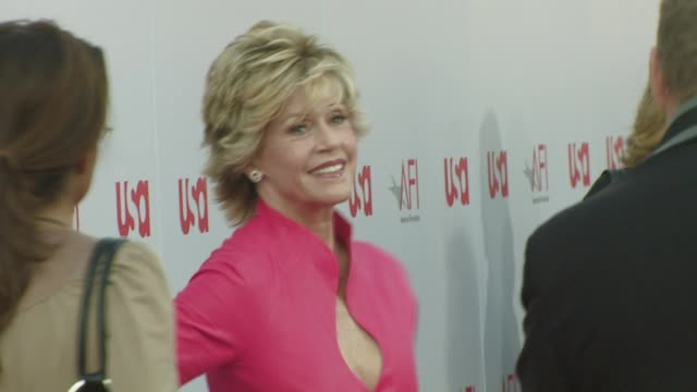 jane fonda at the warren beatty to be honored with 36th afi lifetime achievement award at los angeles ca. - warren beatty stock videos & royalty-free footage