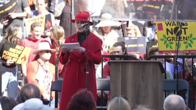 interview jane fonda on her opening speech on climate change oil drilling in california her protest movement at jane fonda's fire drill friday at los... - fire drill stock videos & royalty-free footage