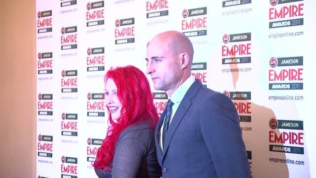 jane goldman and mark strong at the jameson empire awards at london england. - ジェーン ゴールドマン点の映像素材/bロール