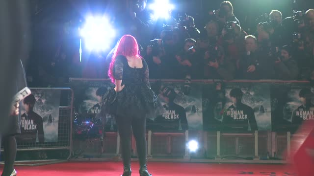 jane goldman at the woman in black world premiere at the royal festival hall on january 24, 2012 in london, england. - ジェーン ゴールドマン点の映像素材/bロール