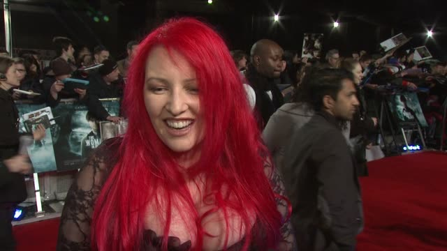 jane goldman on kick ass 2 her projects writing the script enjoying adapting stories at the woman in black world premiere at the royal festival hall... - kick ass film title stock videos & royalty-free footage