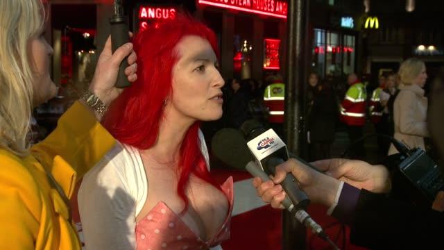 jane goodman at the kickass uk premiere at london england - kick ass film title stock videos & royalty-free footage
