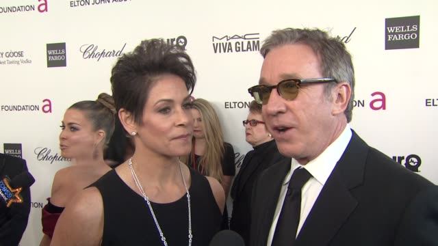 Jane Hajduk Tim Allen at Elton John AIDS Foundation Presents 21st Annual Academy Awards Viewing Party Sponsored By Chopard Neuro Drinks And Wells...